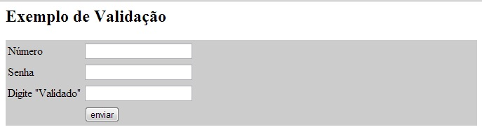 Formulário do exemplo