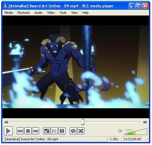 Executando vídeo no VLC