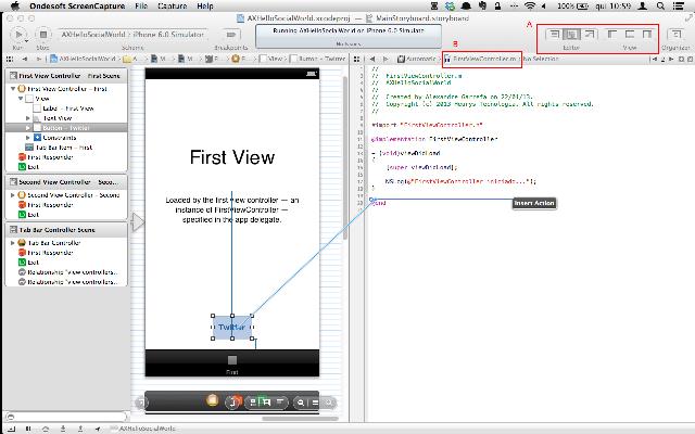 Configurando o layout para realizar ligações entre View e Controller