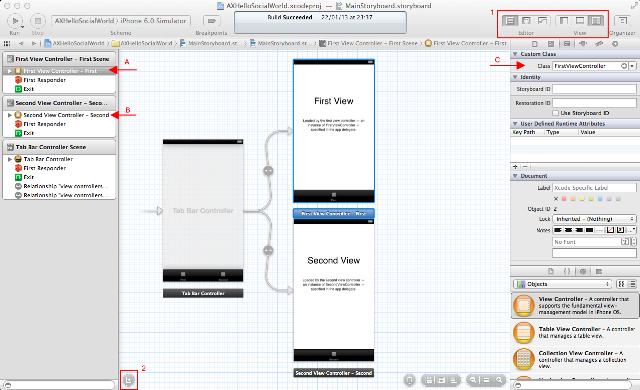Configurando o layout para trabalho com storyboard