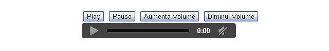 Controlando o áudio por Javascript