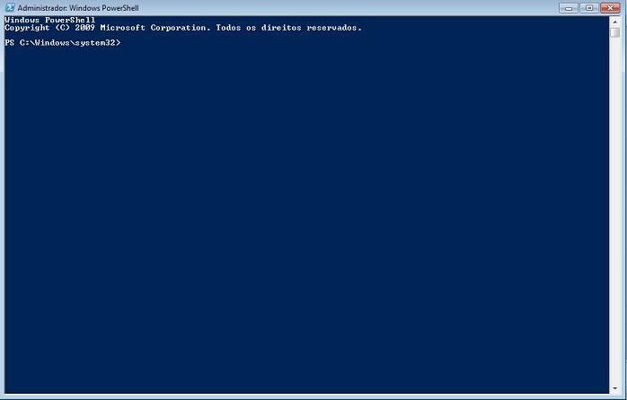 Prompt do Windows PowerShell 2.0