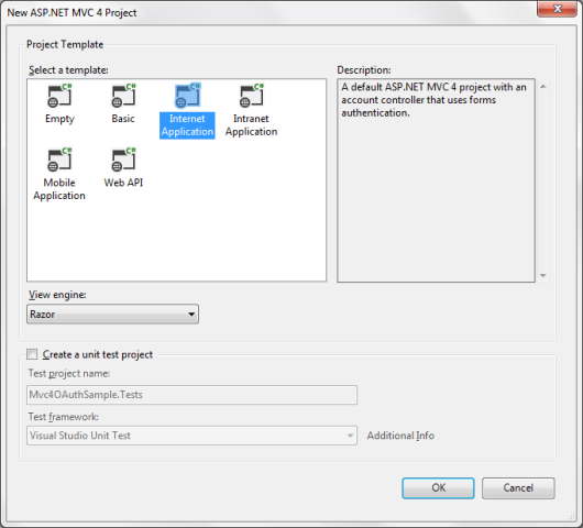Criando um projeto ASP.NET MVC4