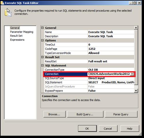 Adicionando o Execute SQL Task para executar o Script no Banco de Dados