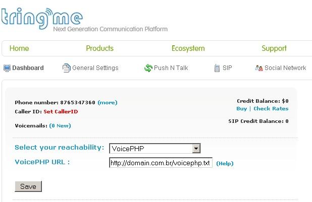 Configurando o VoicePHP
