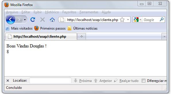 Acesso inicial ao web service