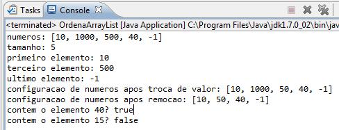 Execução do programa da Listagem 1