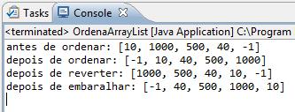 Execução do programa da Listagem 3