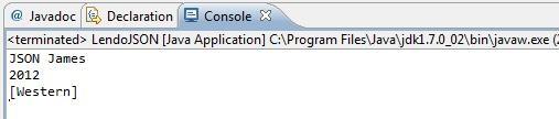 Resultado da execução do programa LendoJSON