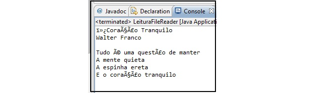 Leitura com problema – UTF-8 não é processado corretamente