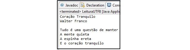 Arquivo UTF-8 é processado corretamente