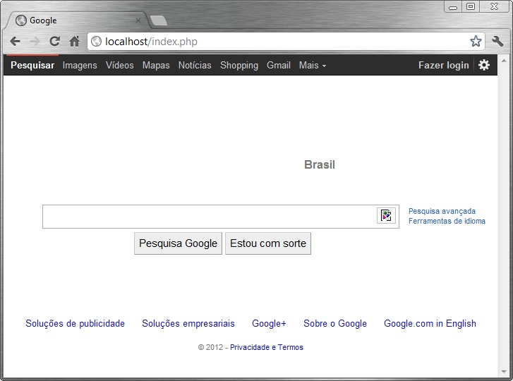 Resultado da conex�o via socked para o site do google