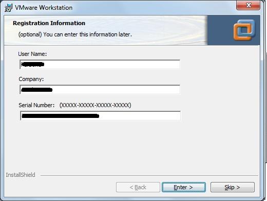 Registro da aplicação