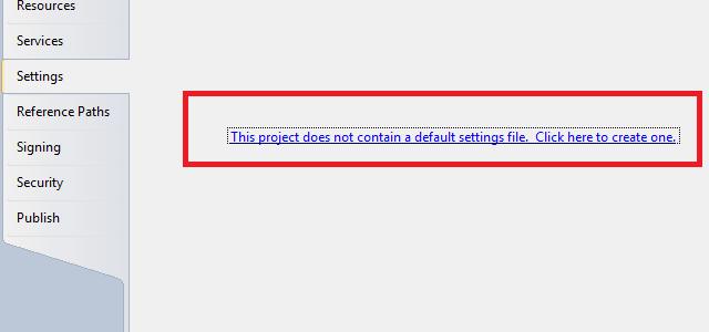 Criando arquivo de configurações