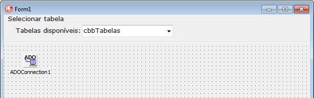 ComboBox para listar as tabelas