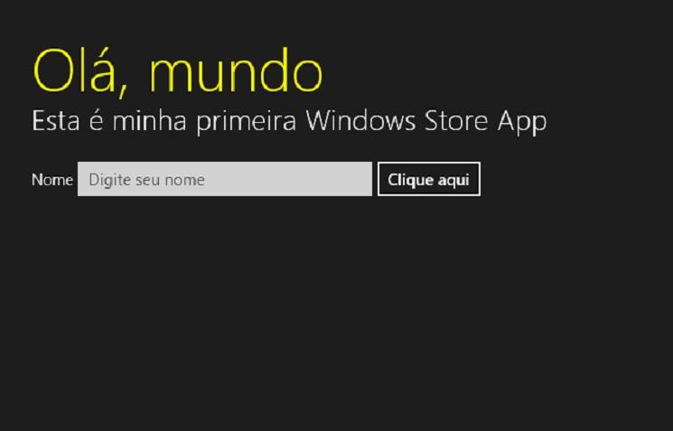 App em execução