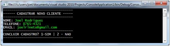 Exemplo de programa linear