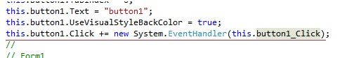 Ligação do evento Click ao método button1_Click