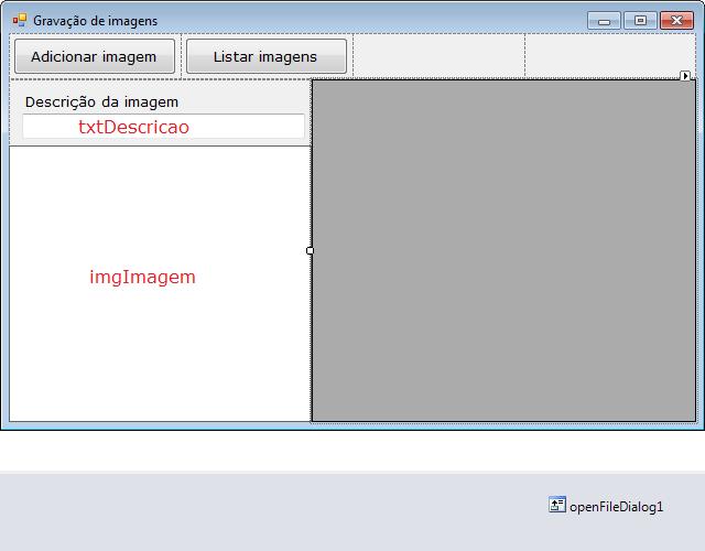 Configuração do formulário principal