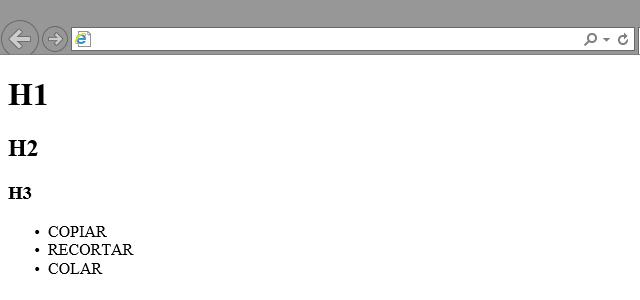 Estrutura básica da página