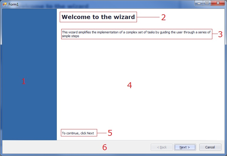 Form principal com WizardControl