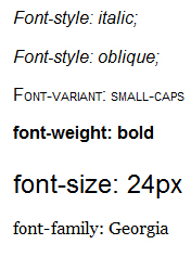 Exemplos de uso da propriedade font