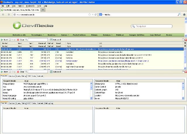 Monitorando interações com o servidor