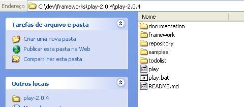 Estrutura de diretórios do Play! Framework