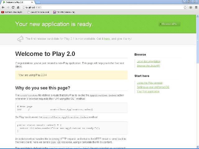 Acessando a aplicação Web