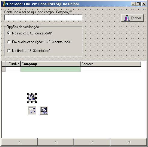 Projetando a aplicação Operador LIKE em consultas SQL no Delphi
