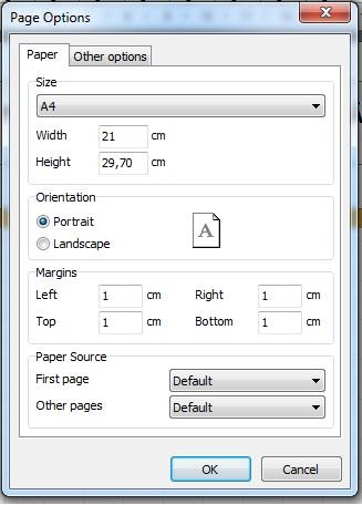 Opções de Página (Papel)