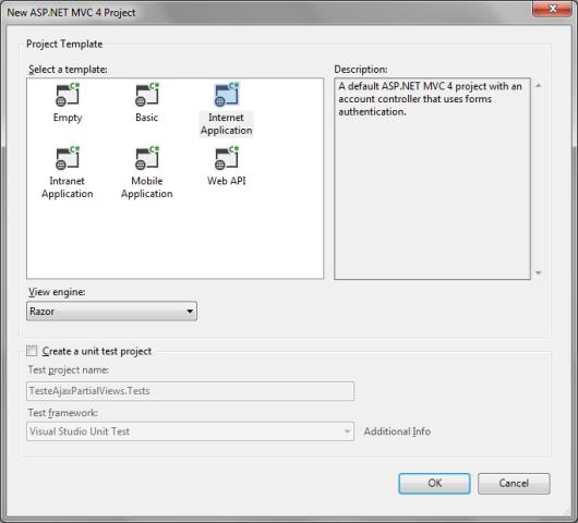 Criando um projeto ASP.NET MVC 4 para testes