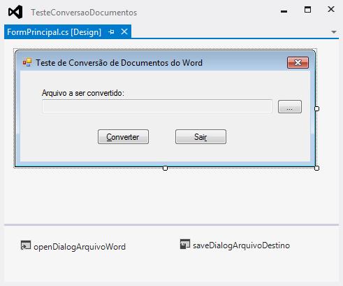 Integração Office x .NET: convertendo arquivos do Word