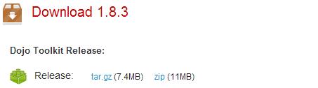 Download do Dojo Toolkit 1.8