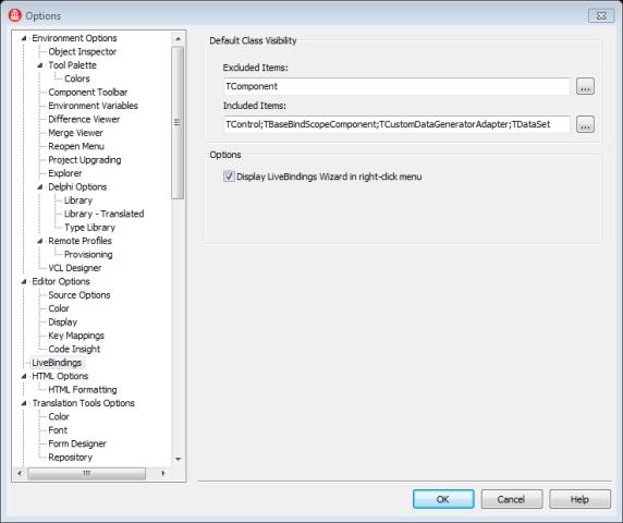 Ativando LiveBindings com o botão direto do mouse