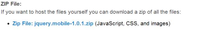 Download arquivo jQuery Mobile zip