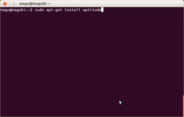 Visualização do comando apt-get install