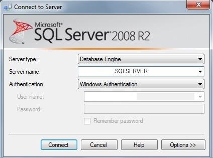 Conectando-se ao SQL Server no Management Studio