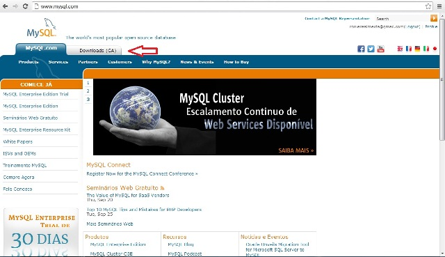 Site oficial do MySQL