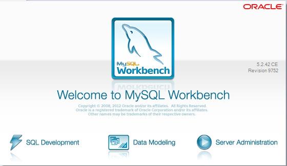 Janela de boas vindas do MySQL