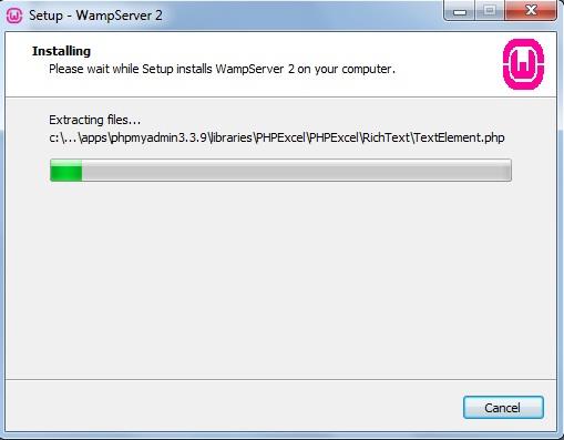 Processo de instalação do WampServer