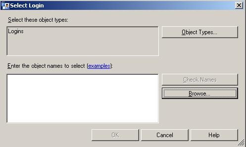 Janela de seleção de login para o usuário