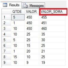 Resultado do SELECT na tabela produtos com a ADIÇÃO.