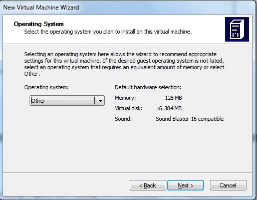 Escolhendo o sistema operacional