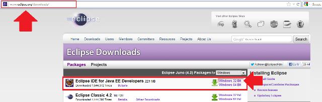 Escolhendo o sistema operacional para download