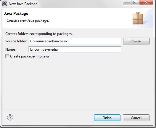 Criando Package