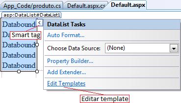 Abrindo o template do nosso datalist para edição via smart tag