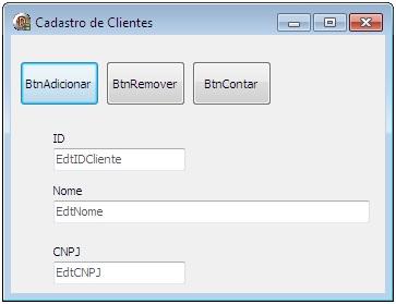 Layout do Formulário de Cliente