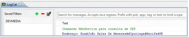 Objetos retornados pelo WS (web service)