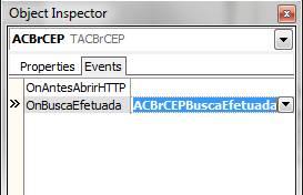 Evento que recebe o retorno da consulta do componente ACBrCEP
